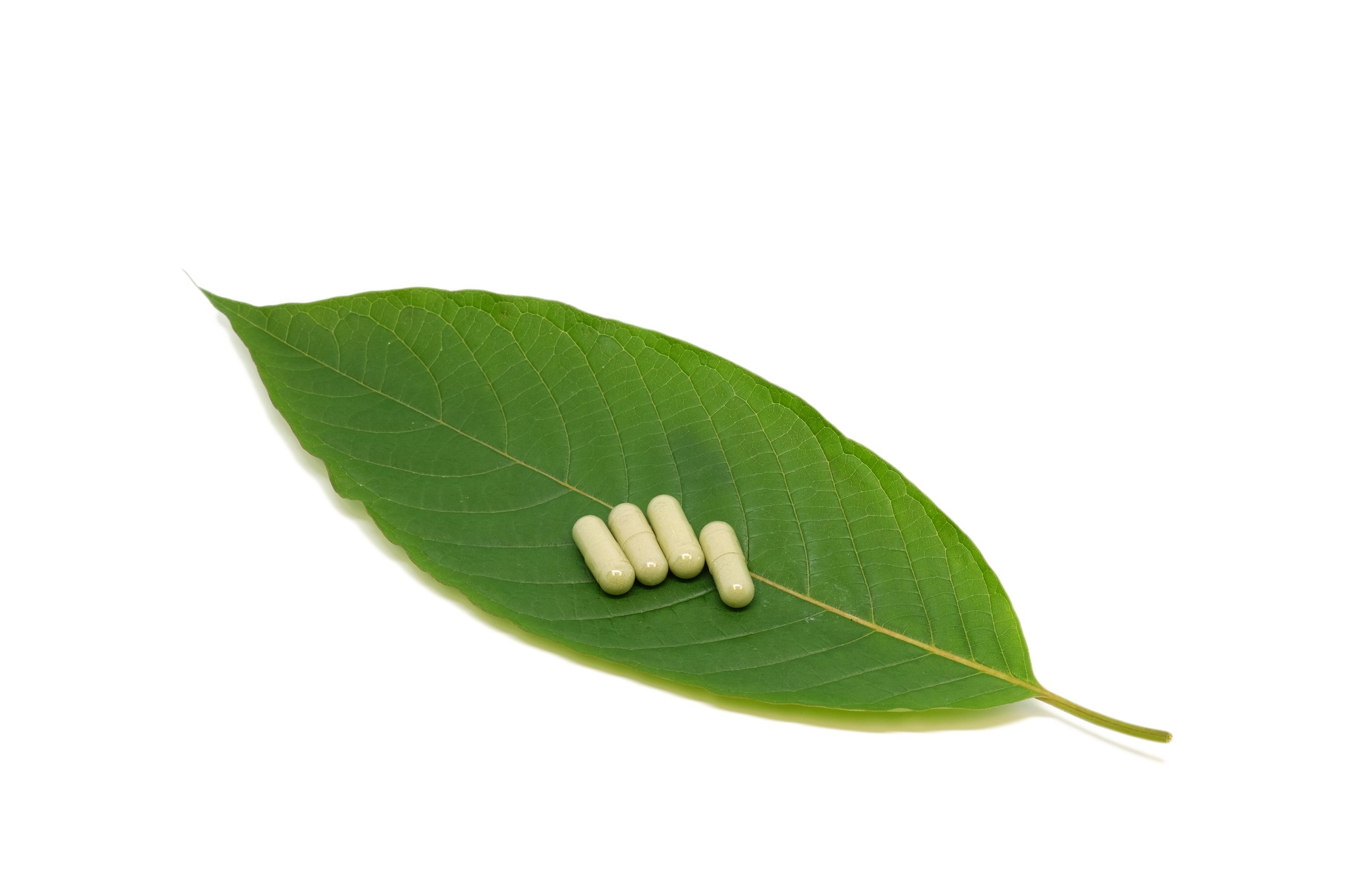Leaf with pills
